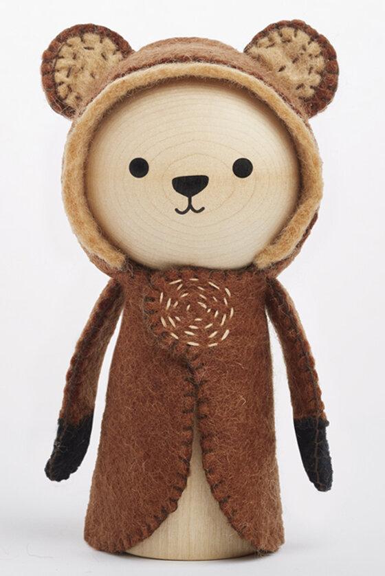 Wooden Toy Baloo Bear