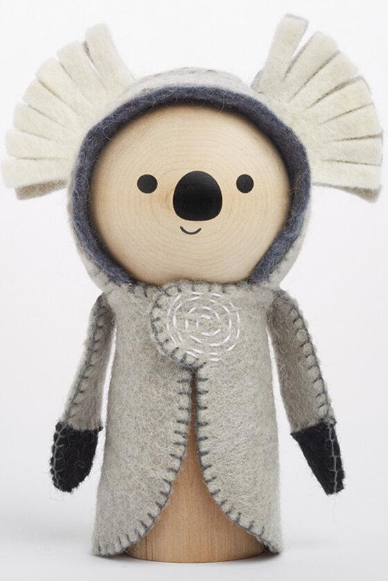 kasey koala wooden toy