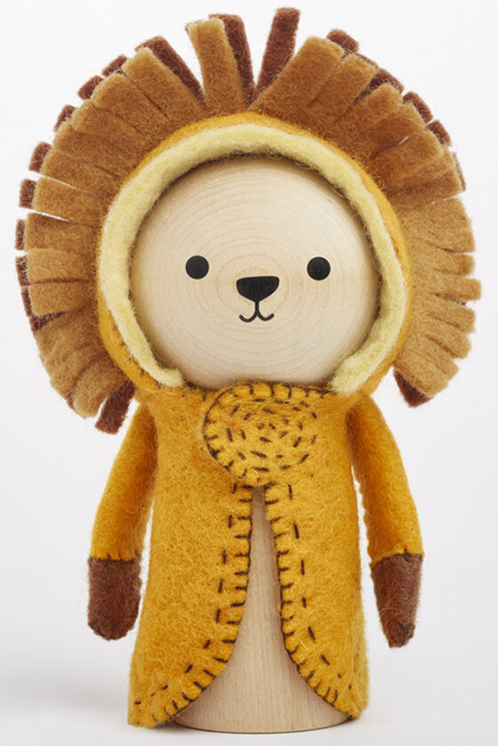 lenny lion wooden toy